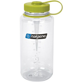 Nalgene Wide Mouth Bottles 1l clear/green tritan